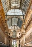 Highline Galleria Szczegół ściana i dach Vittorio Emmanuele Obrazy Stock