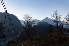 Highline 179 hangbrug in Oostenrijk royalty-vrije stock foto