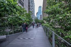 Highline in New York Stock Afbeeldingen