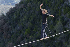 Highlining stockfotos