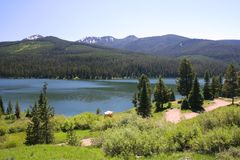 Highlite Lake at Gallatin National Forest, Bozeman Stock Photography