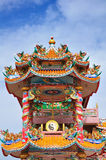 A highly colorful Chinese Temple Stock Image