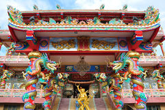 A highly colorful Chinese Temple Royalty Free Stock Images
