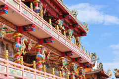 A highly colorful and decorative Temple Royalty Free Stock Photos