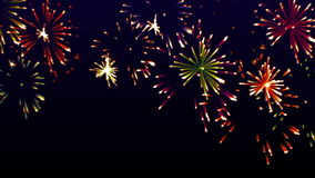 Highly colorful glowing fireworks video, stock video footage