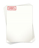 Highly Confidential Document Papers Illustration Royalty Free Stock Photography