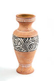 Highly decorative ceramic flower vase decorated with a beautiful Stock Photo
