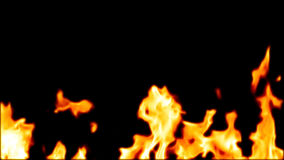 Highly Detailed 3d abstract fire. Agasinst black Background Royalty Free Stock Image