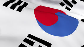 Highly Detailed 3d Render of the Korean Flag 1 Stock Photo
