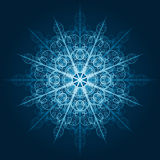 Highly detailed blue snowflake Royalty Free Stock Photo