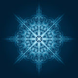 Highly detailed blue snowflake Royalty Free Stock Image
