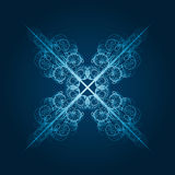 highly detailed blue snowflake Stock Photo
