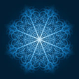 highly detailed blue snowflake Stock Images