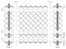 Highly detailed chain-link fence with no gradients, seamless after quick edit Royalty Free Stock Photos