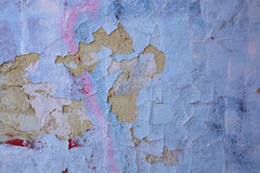 A highly detailed cracked painted wall Royalty Free Stock Images