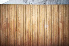 Highly detailed and empty wooden wall, outside. Highly detailed and empty wood wall. Gray background, horizontal Royalty Free Stock Photos