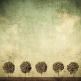 Highly detailed grunge image of trees Royalty Free Stock Images