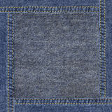 Highly detailed grunge worn denim texture Stock Image