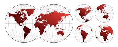 Highly detailed map of the world Stock Images