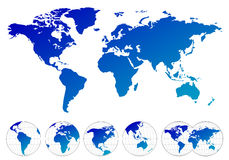 Highly detailed maps of the world Royalty Free Stock Photos