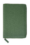 Highly detailed notepad made of olive cotton. Highly detailed closed notepad made of olive cotton Royalty Free Stock Photo