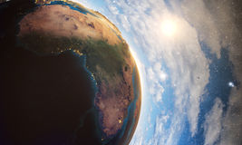 Highly detailed planet earth in the morning, Stock Image