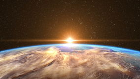 Highly Detailed Sunrise over the Earth vector illustration