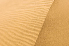 Highly detailed texture of sand dunes Royalty Free Stock Images