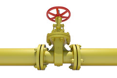 Highly detailed three-dimensional model valves and Stock Images