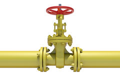 Highly detailed three-dimensional model valves and Royalty Free Stock Image