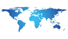 Highly Detailed World Map with Stock Photography