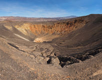 The Highly Eroded Ubehebe Ctaater in Death Valley National Park Stock Image