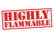 HIGHLY FLAMMABLE Stock Photo