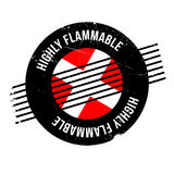 Highly Flammable rubber stamp Stock Photography
