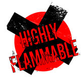 Highly Flammable rubber stamp Royalty Free Stock Images
