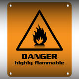 Highly flammable sign Royalty Free Stock Photos