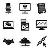 Highly qualified specialist icons set, simple style. Highly qualified specialist icons set. Simple set of 9 highly qualified specialist vector icons for web Royalty Free Stock Photos