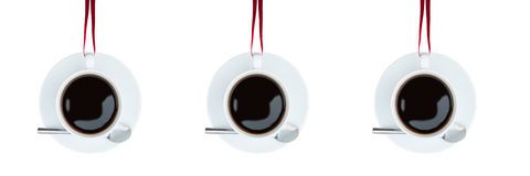 Highly stylised image of coffee cups Stock Image
