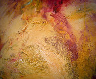 Highly textured abstract painting on canvas royalty free stock photo