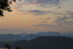 The highly visible Luang Prabang, Laos. The city began to fog af Stock Images