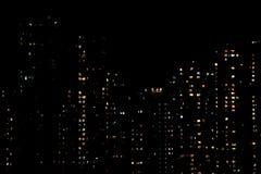 Highrise Гонконга к ноча стоковое изображение