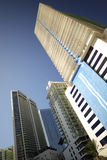 Highrise architecture on blue sky Royalty Free Stock Photo