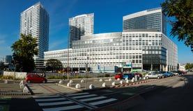Highrise in Bratislava. Modern high building in Bratislava royalty free stock photos