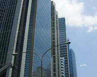 Highrise Building. High rise buildings against blue sky in the Philippines Stock Photography