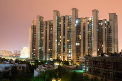 Highrise building gurgaon. Highrise multistory apartments in Gurgaon India provide homes to much of the  city's population Royalty Free Stock Photos