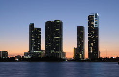 Highrise Buildings in Downtown Miami stock photo