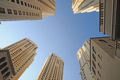 Highrise buildings in Dubai Stock Images