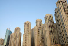 Highrise buildings in Dubai Stock Photography