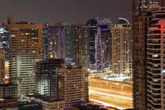 Highrise buildings in Dubai Marina Royalty Free Stock Photo