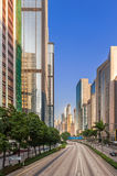 Highrise buildings in Hong Kong, China. Stock Images
